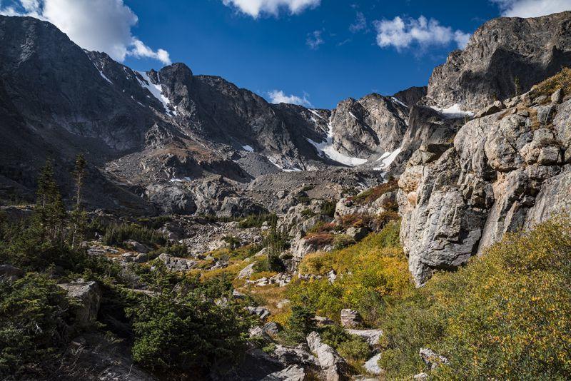 Autumn Ascent to Sky Pond RMNP Estes Park CO