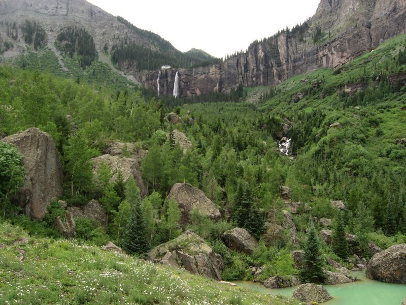Bridal Veil Falls Telluride CO