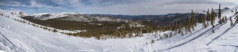 Flattop Mountain Trail Panoramic RMNP Estes Park CO