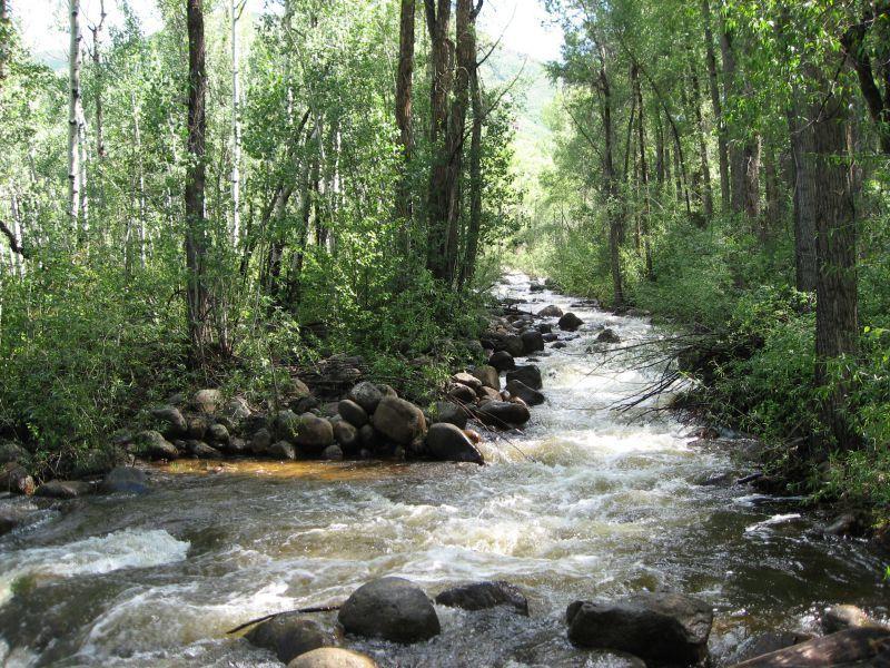 Hunter Creek Lake Trail Stream Crossing Aspen CO