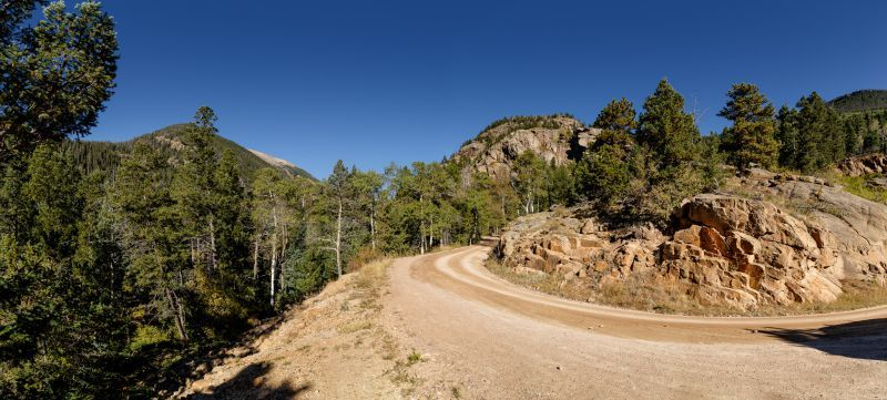 Old Fall River Road to Horseshoe Falls RMNP Estes Park CO