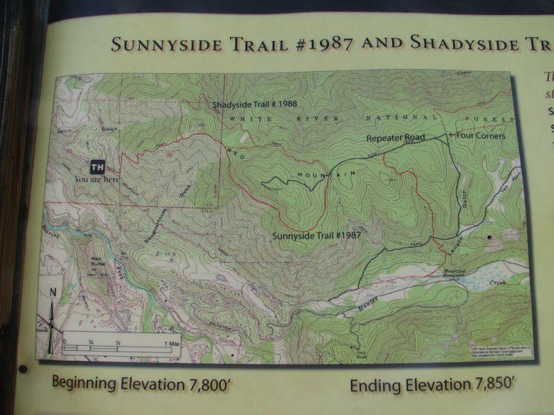 Sunnyside Trail Map Aspen CO