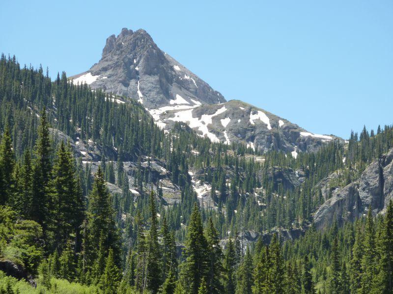 Three Needles Peak Near Blue Lake Telluride CO