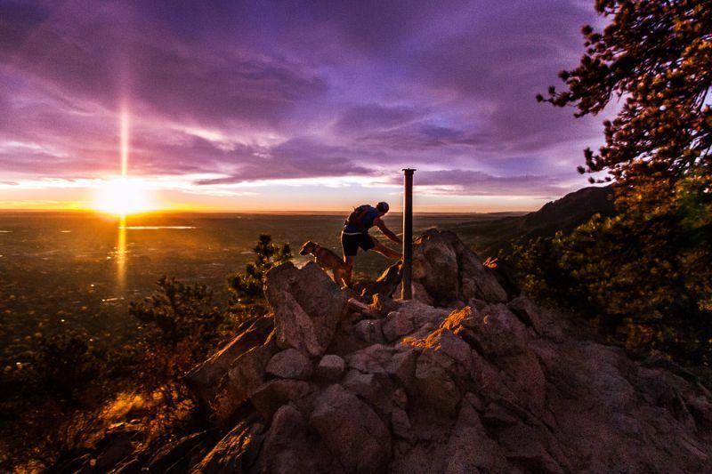 Top of Mount Sanitas Boulder CO
