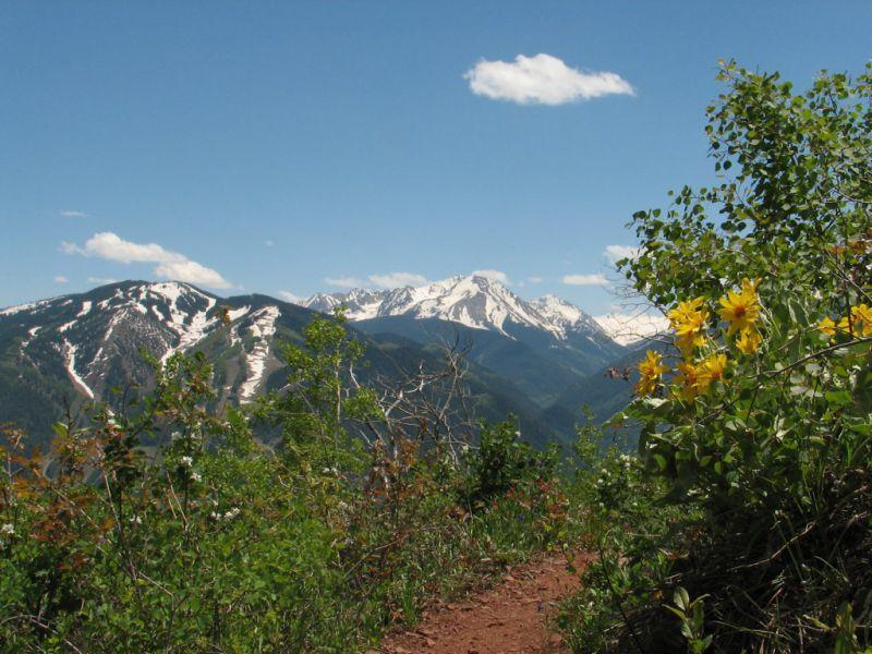 Top of Sunnyside Trail Aspen CO