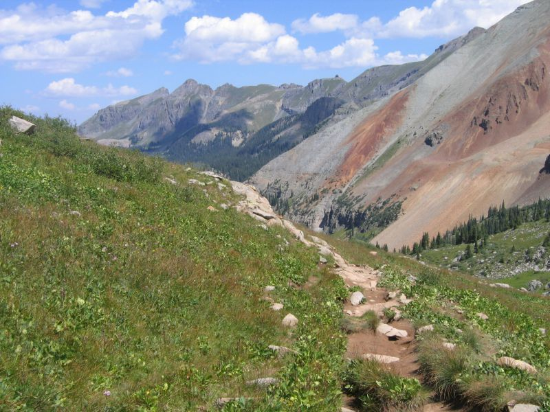 View From Lake Hope Trail Telluride CO