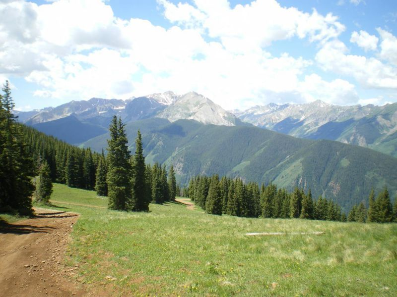 View from Aspen Mountain Aspen CO