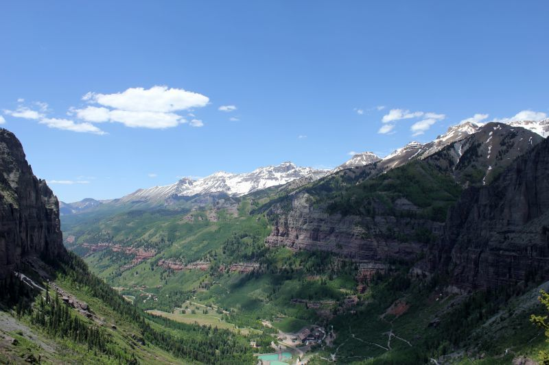 View from Bridal Veil Telluride CO