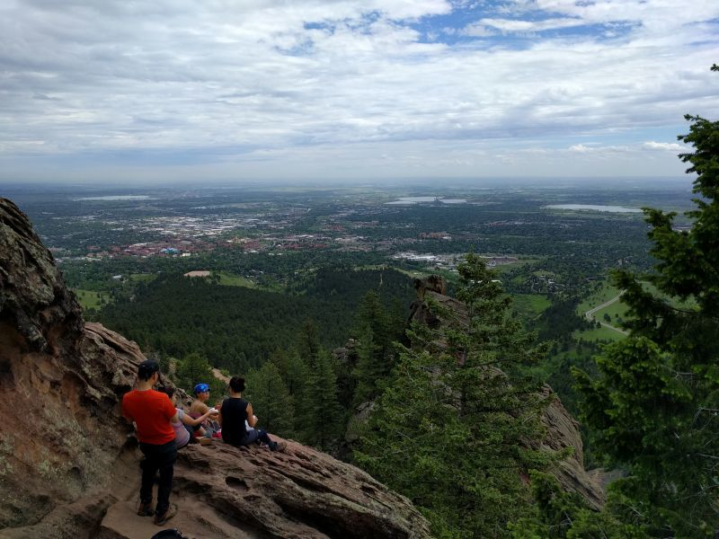 View from Royal Arch looking down into Boulder CO