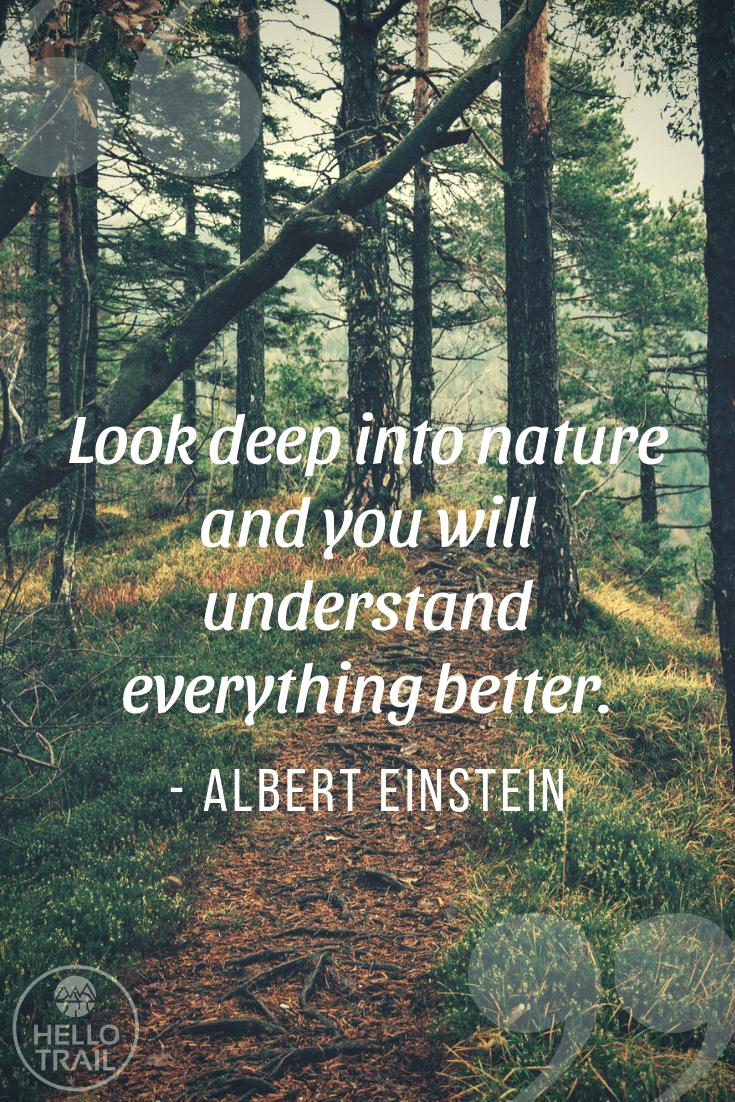 Albert Einstein hiking quote - HelloTrail