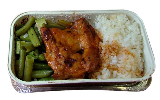 Airplane style food