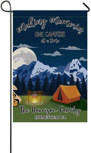 Personalized campsite flag
