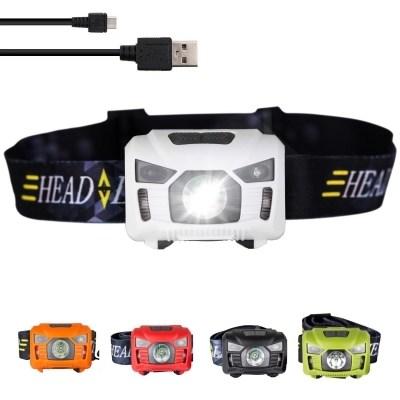 Three Trees USB Rechargeable Hiking Headlamp